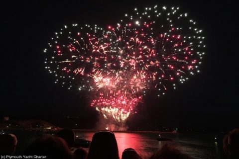 British Fireworks Championships with Plymouth Yacht Charter